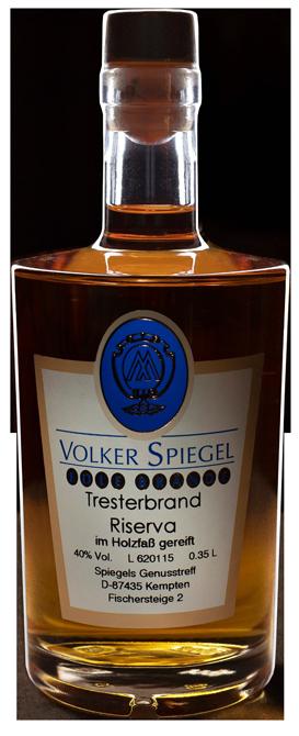 Tresterbrand Riserva von Volker Spiegel